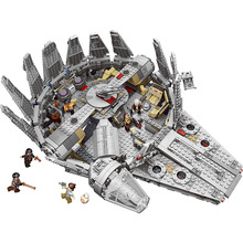 1381pcs Factory Sale Price model building blocks bricks Star Wars Millennium Falcon Figure compatible with legoed toys for kids