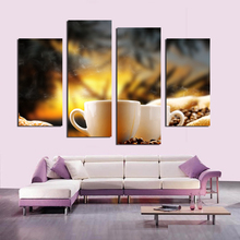 2017 Top Fashion Modern Unframed New Coffee Beans Decorative Pictures Cuadros Decoracion For Home Decor Wall Canvas(China)