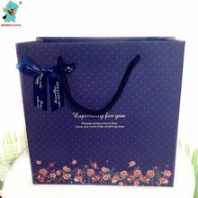 High Quality Dark Blue Gift Bags Party Birthday Wedding Decoration Supplies Souvenir Bags Party Gift Bag 4pcs