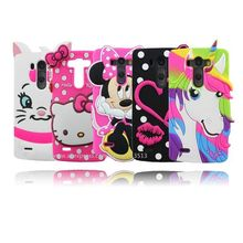 For LG G3 Case 3D Stitch Minnie Hello Kitty Sulley Tiger Batman Unicorn Silicone Phone Cases Cover For LG G3 D858 D859 D850 D855(China)
