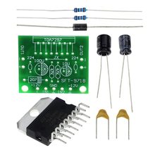 Free Shipping TDA7297 Amplifier Board Spare Parts DC 12V Grade 2.0 Dual Audio Encoding 15W Electronic DIY KIT(China)