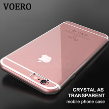 VOERO Transparent Phone Back Silicone Soft TPU Case For iPhone 6 6s 6 plus 6s plus Cover For iphone 7 7 plus Cases Coque