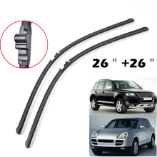 "MISIMA 26""+26"" FIT FOR 2003 2004 2005 2006 PORSCHE CAYENNE VW TOUAREG WINDSHIELD WIPER BLADES BRACKETLESS WINDSCREEN(China)"