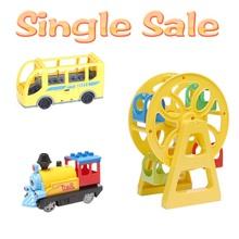 Ferris wheel Big Building Blocks Locomotive Accessories Assembly Compatible With Duplo Basics Bricks Bus car BABY DIY Toys gifts(China)