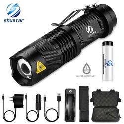 Портативный мини яркий светодиод фонарик 5 режимов освещения светодиодный фонарик Велосипедный свет кемпинг свет используется для Кемпинг...