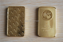 PERTH MINT 1 OZ GOLD BAR, 3pcs/lot Free shipping (Non-Magnetic)
