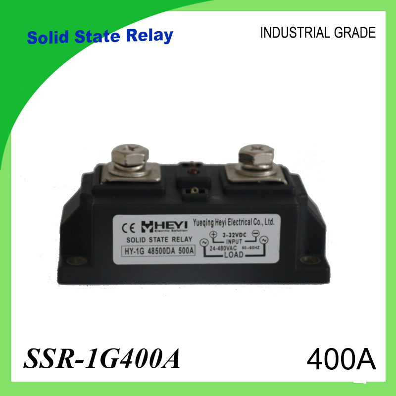 SSR-400A Solid State Relay 400A Industrial 24-480VAC 3-32VDC(D3) 70-280VAC(A2) High Voltage Relay Solid State Relays SSR 400A<br>
