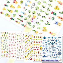 1Sheet Colorful Pattern Fruit/Plant/Symbol Design Nail Art DIY Decal 3D Decoration Sticker Manicure Tips BECA057-064(China)