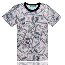 2017 New arrivals t shirt for men funny 3D dollar printed T Shirts brand clothing Tshirts  mma tshirt homme camisetas