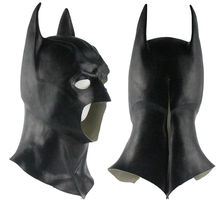 Realistic Halloween Full Face Latex Batman Mask Costume Superhero The Dark Knight Rises Movie Party Masks Carnival Cosplay Props(China)
