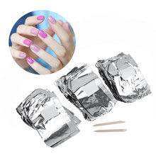 GENPAI Approximately 100pcs Manufacturers Nail Polish Gel Removable Foil Cotton Manicure Resurrection Nail Cleaner