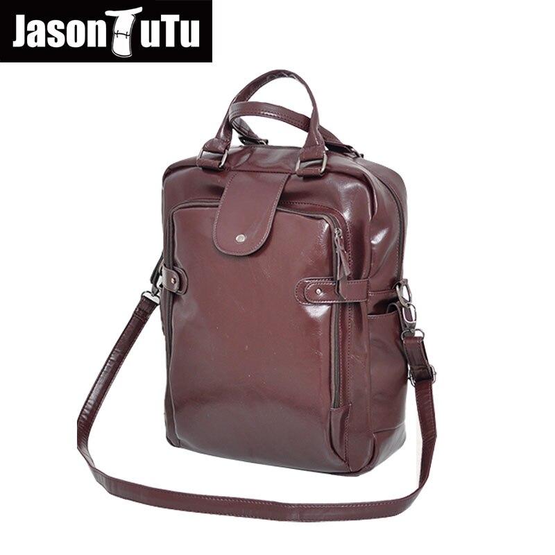 JASON TUTU Brand Handbag Multifunction shoulder bags 14/15 inches laptop men messenger bag high quality PU leather Tote bag B408<br>