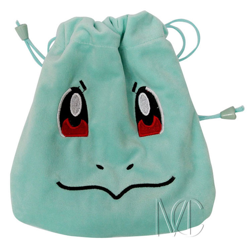 Anime Pocket Monster Squirtle Jewelry/Cell Phone Drawstring Pouch/Wedding Party Gift Bag (DRAPH_20)(China)