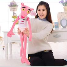 1pc 55cm NICI Hot Sale Wear Clothes Lovely Leopard Wave Of Pink Panther Plush Toys t-shirts Pink Pinkpanther Doll birthday gift(China)