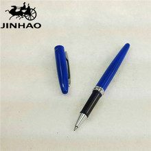 1pc/lot JINHAO Blue Pen Silver Clip 885 Roller Ball Pen Rhinestones Accessories Material Escolar Canetas Kawaii 13.6*1.2cm(China)