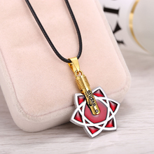HSIC Hot Anime Naruto Necklace Itachi Uchiha Sasuke Mangekyou Sharingan Pendant Fashion Jewelry Dropshipping