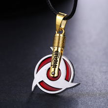 MOSU Hot Anime Naruto Necklace Uchiha Itachi Mangekyou Sharingan Pendant Cosplay Toy Jewelry can Drop-shipping