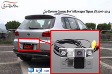 JanDeNing HD CCD Car Rear View Parking/Backup Reverse Camera/ License Plate Light OEM For VW Volkswagen Tiguan 5N 2007-2014(China)