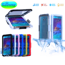 For iPhone 6S Plus 6 Waterproof Case, Premium TPU + PC Hybrid Underwater Swimming Diving Case for Galaxy Note 5 Note5 S7 S7 Edge