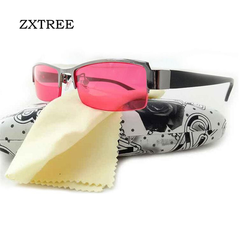 ZXTREE Color Blind Color-blindness Corrective Glasses Women Men Examination Half frame HD Sunglasses Colorblind Driver's Eyewear(China)