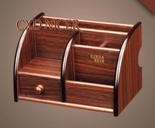 Special Wooden Pen Holder With A Variety Of Drawers Desk Desktop Accessories Storage Box Pencil Holder Office Supplies(China)