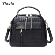 Tinkin New Arrival Knitting Women Handbag Fashion Weave Shoulder Bags Small Casual Female CrossBody Bag Retro Tote(China)