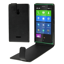 For Nokia XL Up and Down Mobile Phone Case Black Skin Shell Flip Leather Cases for Nokia XL
