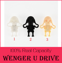 Cool Skull Skeleton people headshot USB Flash drive Real capacity 64GB 32GB Zombie Skull Pen disk memory stick 16GB USD Flash