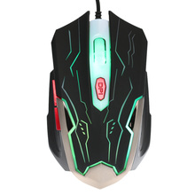 Super Discount Adjustable 2400DPI 6 Buttons Optical USB Wired Gaming Game Mouse LED for PC Laptop desktop(China)