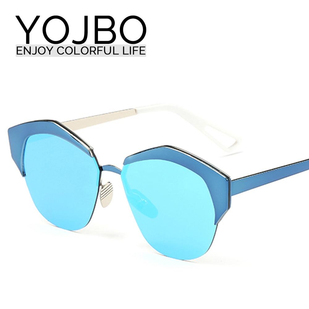 YOJBO Sunglasses Women brand Designer Cat Eye Glasses Alloy Mirror Sun Glasses 2017 Women Driving Cheap Black Oculos<br><br>Aliexpress