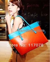 3pcs/lot Korean Style PU Leather Satchel bag Luggage Tote shoulder large Bag for girl Ladies Handbag fashion 7496