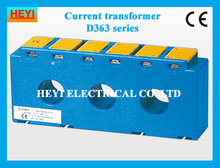 Three phase current transformer low voltage high accuracy D363 3*50/5A-500/5A