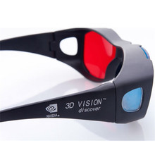 ANEWKODI Black Frame Red Blue 3D Glasses For Dimensional Anaglyph Movie Game DVD Universal 3D Plastic Glasses Movie Game VideoTV(China)
