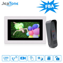 "JeaTone Waterproof 7 "" Touch-Screen Video Wired Doorbell Monitoring System Intercom With Camera Home Intercom Remote Unlocking(China)"