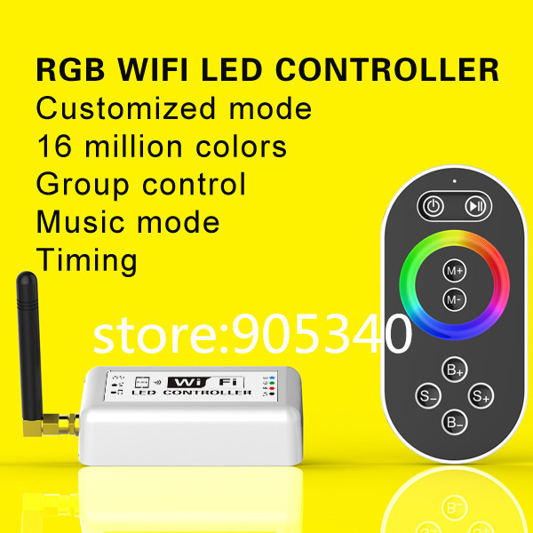 16 millions color RGB WIFI LED controller with remote,Group or timing control magic color rgb controler wifi<br>