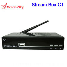 Newest Black Streambox C1 Singapore Cable TV set top box stream box c1 watch football HD drama channels builtin wifi
