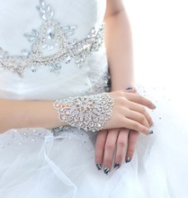 Bride bracelet female white exaggerated fashion hand back chain wedding arm ring wedding  accessories