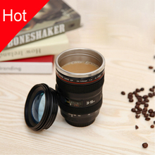 Creative SLR Camera Lens mug 24-105mm,1:1 Scale Plastic Coffee mug 400ML ,Stainless Steel Fashion insulation cup