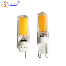 Shenzhen1pcs 3w 6w 9w G4 G9 Led lamp Dimmable led bulb High Quality Cob replace halogen lamp 12v DC 110V 220V AC(China)