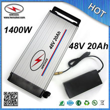 China manufacturer of Electric Bike Battery 48V 20Ah lithium ion battery 1000W built in 13S 30A BMS 3.7V 2.6Ah 18650 cell