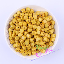 Promotion 8mm 250pcs Yellow Color Cube Wood Beads For Necklace And Bracelet DIY Kit Making Beads CDGT-024