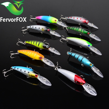 FervorFOX 10 Pieces / Lot Fishing Lure Deep swim hard bait fish 9CM 8G artificial baits minnow fishing wobbler japan pesca