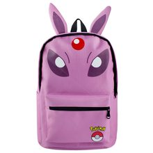 7aa481bec3 MeanCat Pokemon School Backpack Purple Espeon Character with Cute Ears  Students Favorite School Bags