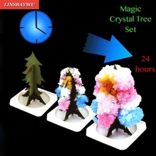 1pc Magic Growing Christmas Tree Crystal Paper Tree Christmas Decoration Science Toy New Year's products(China)