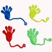 10Pc Assorted Colors Nostalgic Classic Sticky Hands Kids Party Favors Supplies Carnival Prize Kids Funny Kid Toys(China)