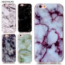 DEEVOLPO Phone Bags Case For Apple iPhone 7 Plus 4 4S 5 5S SE 5C 6 6S ipod touch 6 Soft TPU Marble Stone Paint Cover Skin DP02