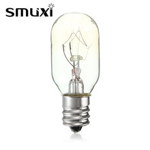 Smuxi High Temperature 15W/25W Incandescent Bulb E12 Salt Lamp Toaster Oven Refrigerator Light Filament Bulbs Lighting 120V(China)