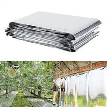 1Pc 210 x 120cm Silver Plant Reflective Film Garden Greenhouse Grow Light Accessories Silver Plant Reflective Film(China)
