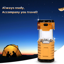 Newest Solar Flashlight,Multifunctional Camping Hang Lamp Solar Portable Flashlights Torches Mobile Power For Phone Outdoor