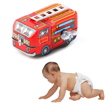 New Children Vintage Fire Chief Firefighter Car Truck Clockwork Model Toys Gifts Wind Up(China)
